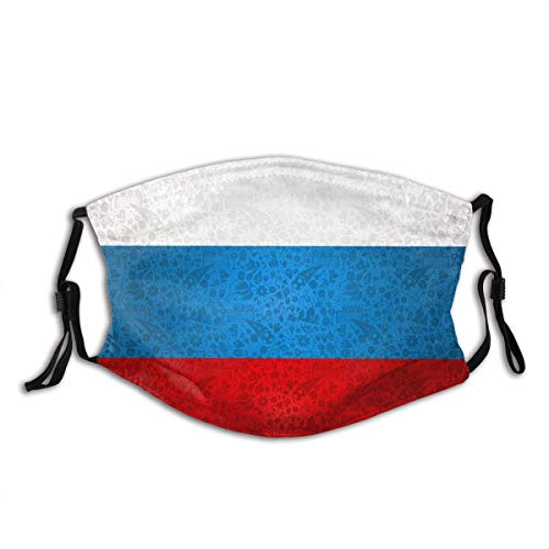 Mundschutz Russland Symbol Dekoration Hintergrund Country Flag Waschbare und Wiederverwendbare Gesichtsbedeckung mit Filter