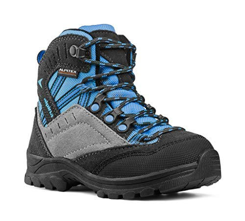 ALPINA Unisex-Kinder Trekking- & Wanderstiefel, blau/grau (30)