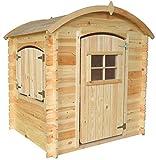 TIMBELA M505-1 Maisonnette en Bois avec Sol en Bois - Maison de Jardin pour Enfants pour l'exterieur - H145 x 105 x 130 cm, 1.1 m²