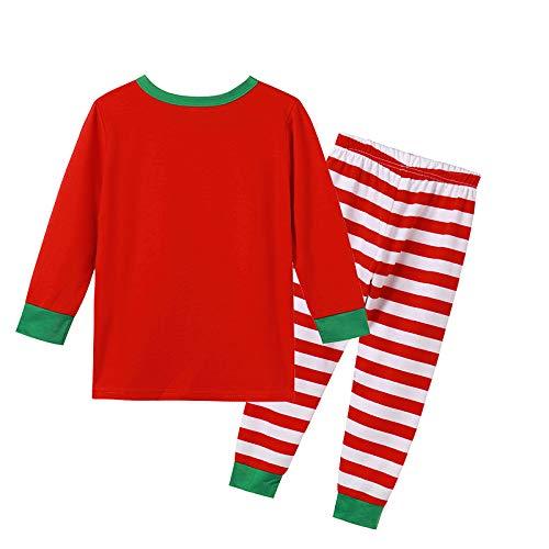 Hapeisy Pijamas de Navidad Familia PJs a juego para papá mamá Cheeky Little Elfos Hombres Mujeres Niña Niño Ropa de Dormir Traje
