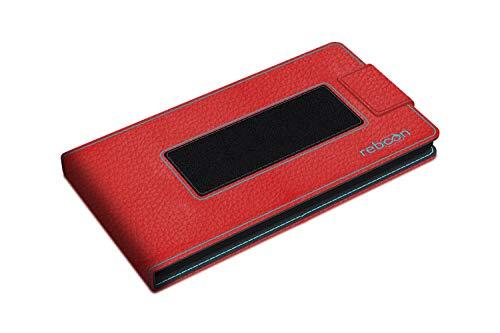 reboon Hülle für Huawei Ascend D1 Tasche Cover Case Bumper | Rot Leder | Testsieger - 2