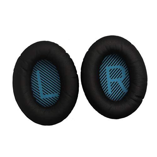 Ohrpolster für Bose QuietComfort 25 Acoustic Noise Cancelling Kopfhörer, Colorful 1 Paar Ohrpolster Ersatz Ear Pad kompatibel mit Bose Quiet Komfort 15 QC15 QC25 QC35 Ae2 Ae2i Ae2w Kopfhörer (B)