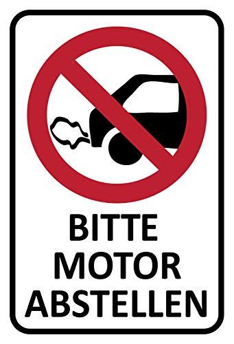 Schatzmix Hinweis Bitte Motor abstellen Metallschild 20x30 cm Deko tin Sign Blechschild, Blech, Mehrfarbig