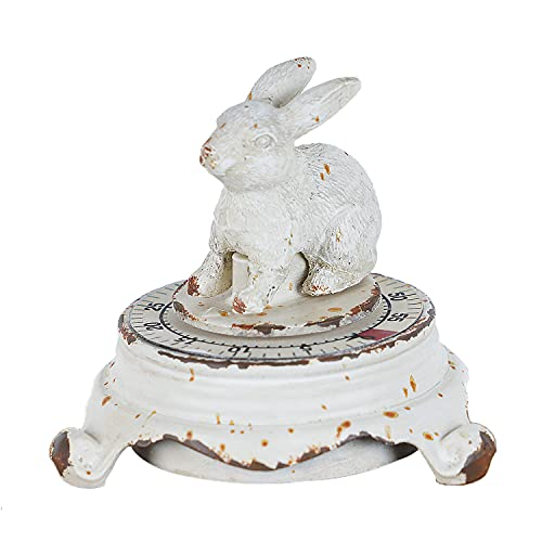 SOFFEE DESIGN Vintage Rabbit Kitchen Timer for Cooking Loud Alarm Decorative White, 55 Minutes Animal Timer Ringing Alarm, for Manage Time, Baking Boiling Egg Timer