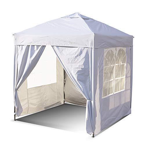 SANHENG Pop Up Gazebo, Pop Up Tent with Weights, Fully Waterproof, All Weather Gazebo ideal for Outdoor Party Camping (3 x 3,White)