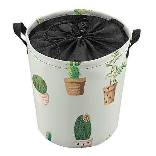 Cubo de almacenamiento impermeable grande organizador ligero cesta para la colada, cubos de juguete, cestas de regalo, ropa sucia, dormitorio de los niños, plantas en maceta de cactus