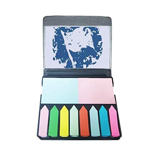 Blauwe Vlag Ontwerp Ronde Illustratie Patroon Zelf Stick Opmerking Kleur Pagina Marker Box