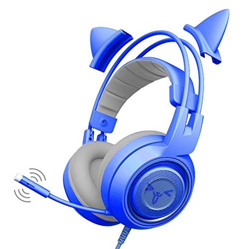 lizeyu Auricular lindo juego auricular solo enchufe PS4 universal con micrófono