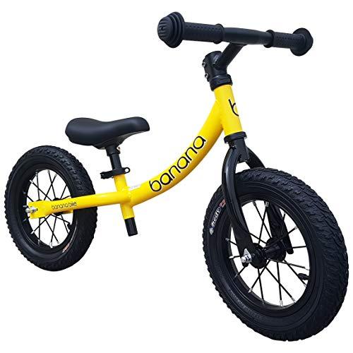 Banana GT – Laufrad 12 Zoll Lauflernrad Kinderrad für Jungen und Mädchen Kinder 2, 3, 4 und 5 Jahre (Gelb)
