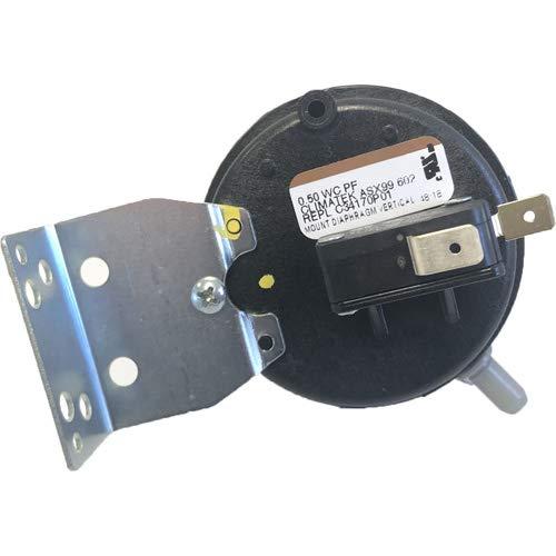 "Furnace Vent Air Pressure Switch - Fits American Standard Part # C341750P01 .50"" WC"
