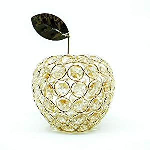 NiniTe LIGHTS Artificial Fruit Ornament Table Decor, Crystal Fruit Figurine Gift