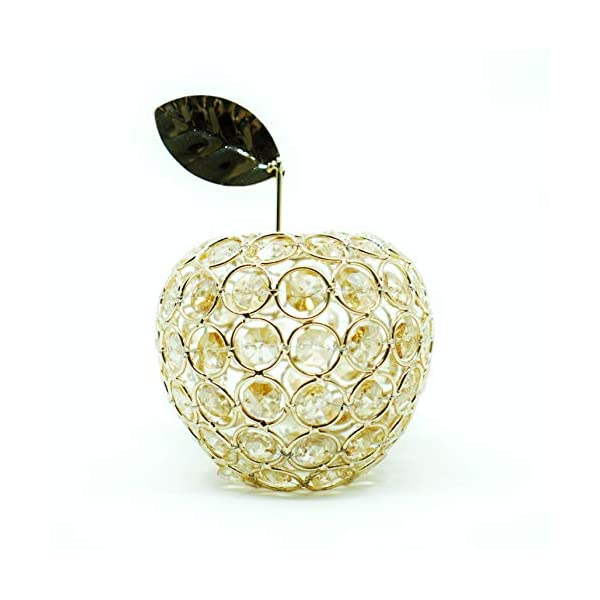 NiniTe LIGHTS Artificial Fruit Ornament Table Decor, Crystal Fruit Figurine Gift