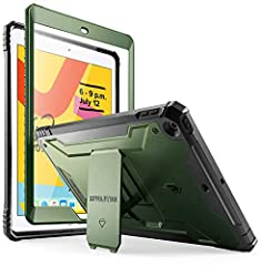 COMPATIBILITY - Compatible with Apple iPad 10.2 (7th Generation, 2019 Release) tablet. (Model Number: A2197, A2198, A2200) 360 DEGREE PROTECTION - Protects your Apple iPad 10.2 2019 Tablet from all angles. Includes: built-in screen protector, port co...