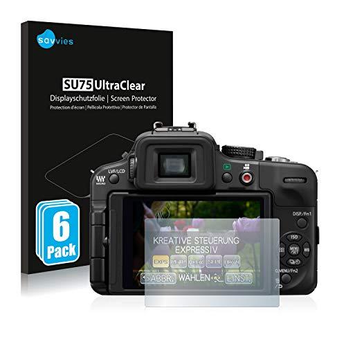 Savvies 6X Schutzfolie kompatibel mit Panasonic Lumix DMC-G3 Bildschirmschutz-Folie Ultra-transparent