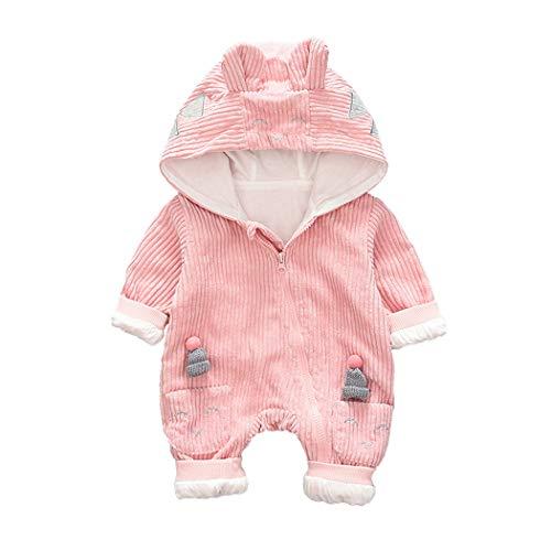 DorkasDE Baby Strampler Neugeborene Kleinkinder Strampleranzug Overall Cartoon Jumpsuit Frühling Herbst Babykleidung mit Kapuze