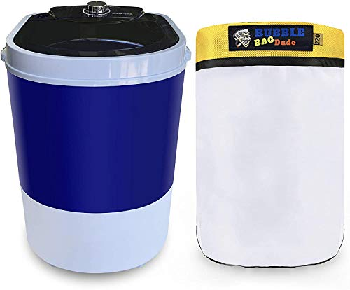 BUBBLEBAGDUDE Bubble Bags Machine 5 Gallon Mini Washer Herbal Ice Essence Extraction Washing Machine with 5 Gallon 220 Micron Zipper Bag - 110 Volts - Eliminate 90% of Work & Save Time