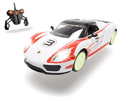 Dickie Toys 201119075 - RC Porsche Spyder, funkferngesteuertes Fahrzeug, 26 cm