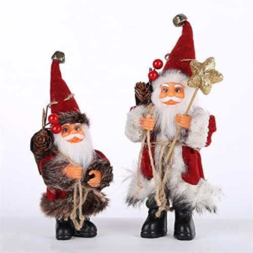 Adornos para rboles de Navidad Navidad Pap Noel Mueca Decoracin de juguete Hogar exquisito (Color : B, Size : Medium)