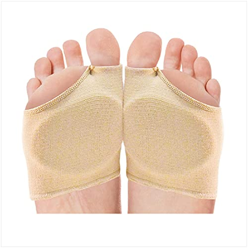 NatraCure Gel Metatarsal Pads - 1 Pair - with Metatarsalgia Forefoot Cushion - for Ball of Foot Pain Relief - (Sizes: Small/ Medium to Large / X-Large)