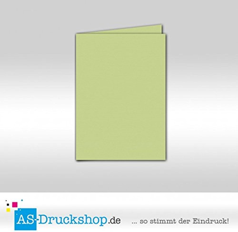 Faltkarte Doppelkarte - Birkengrün 100 100 100 Stück DIN B6 B0794YSF9K | Eleganter Stil  817599