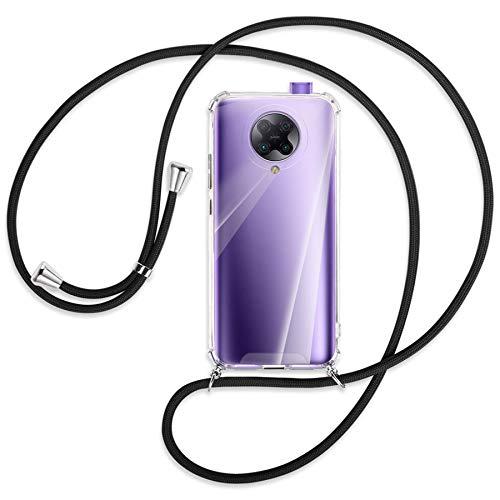 mtb more energy® Handykette kompatibel mit Xiaomi Poco F2 Pro, Redmi K30 Pro/Ultra (6.67'') - schwarz - Smartphone Hülle zum Umhängen - Anti Shock Strong TPU Hülle