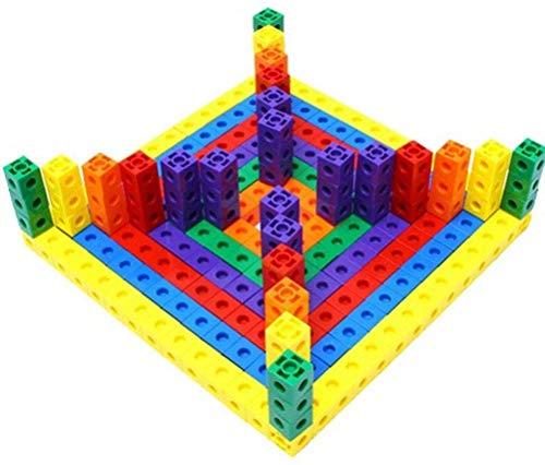 Yeglg 10 bloques de conteo de plástico, cubos de centímetro para aprender a contar chips para aulas matemáticas herramienta de enseñanza