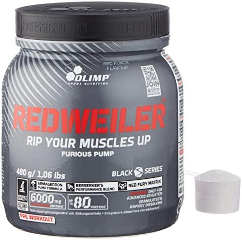 OLIMP- Redweiler Pre Workout - Red Punch (480g). Nahrungsergänzungsmittel zur Einnahme vor dem Training