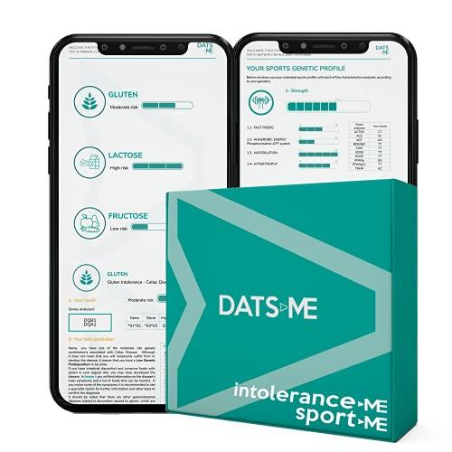DATS ME – Pack de IntoleranceMe y SportMe, Test Genético de Intolerancia Alimentaria y Rendimiento Deportivo, Incluye Kit de ADN