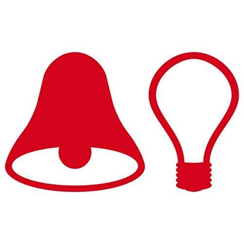 GreenIT 2 Sets 5cm Aufkleber Rot Tattoo die Cut Deko Folie Lichtschalter Taster Licht Klingel Symbole