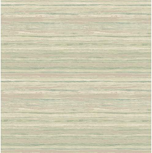 Unknown1 Sage Stripe Wallpaper 20.5in X Contemporar Max 57% OFF Super special price Green Modern