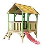 Spielturm axi Akela Holz mit Rutsche rot