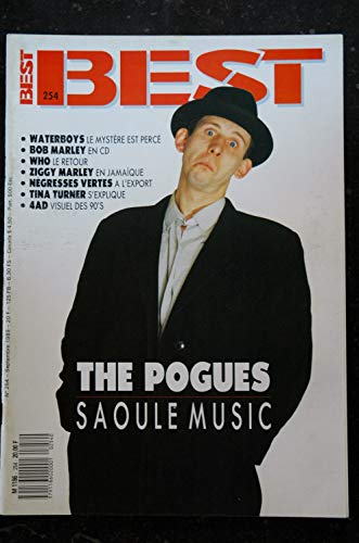 BEST 254 SEPTEMBRE 1989 THE POGUES Waterbot\'s Bob Marley Who Ziggy Marley Negresses Vertes Tina Turner