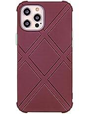Funda de silicona para iPhone 12 Pro Max (6,7 pulgadas) (marrón)