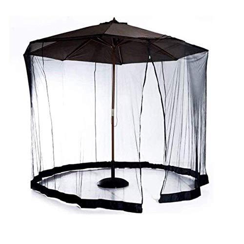 FGVDJ Sombrilla de jardín al Aire Libre Su sombrilla en una glorieta Sombrilla Pantalla de Mesa, Mosquitera de jardín de Malla con Puerta con Cremallera y Malla de po
