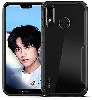 Huawei Nova 3 Hybrid Shockproof Case Cover - Clear & Black