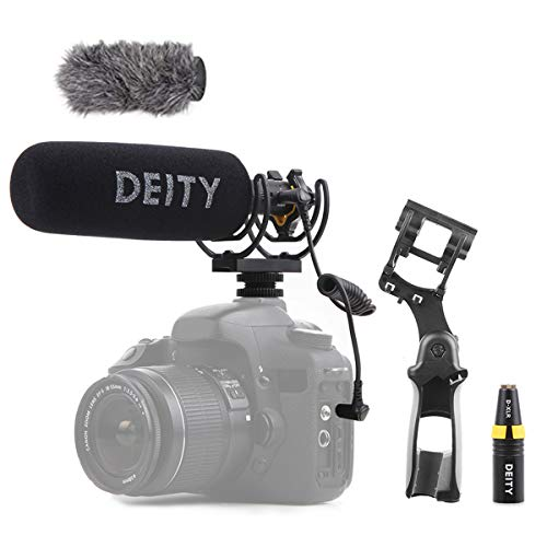 Deity V-Mic D3 Pro Location Kit Super-Cardioid Directional Shotgun Microphone with Rycote Duo-Lyre Shock Mount and PERGEAR Cloth for DSLRs, Camcorders, Smartphones, Tablets, Handy Recorders, Laptop