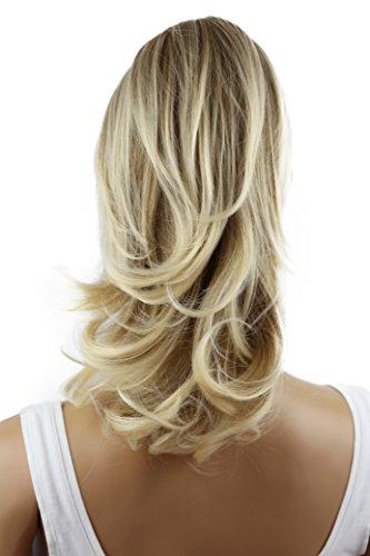 PRETTYSHOP 30cm Haarteil Zopf Pferdeschwanz Haarverlängerung Voluminös Gewellt Blond Mix H107a