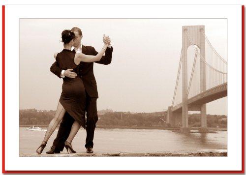 Tango at Verrazano Bridge, New York - Handmade Christmas Photo Greeting Cards