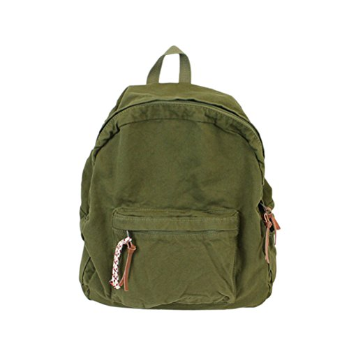 College School Bag Canvas Denim Travel Backpacks Purse Girls and Boys Army Green