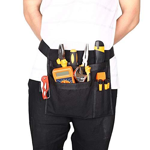 Canvas Tool Riem voor Mannen, Single Side Schort Tool Belt Pouch, Werkwinkel Riem, Hout werkgereedschap en accessoires, Schroevendraaier Pouch Zwart