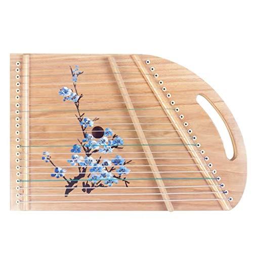 SXQ Guzheng tragbarer Mini-Gu Zheng Guzheng Finger Trainer mit Voll Zubehör/Rucksack, Geeignet for Erwachsene/Anfänger/Professional/Kinder 40 * 24 cm 21 Streicher