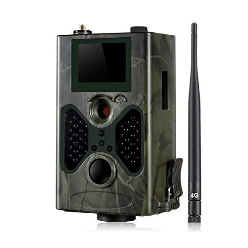 Cámara de Caza 4G, 16MP 1080P Hunting Camera Trap 2.0''LCD con visión nocturna por infrarrojos Hasta 65 pies / 20m,IP65 Resistente al agua,ambién for la vigilancia de seguridad en el hogar(Card Tarjet