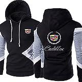 S-vision Sudadera con Capucha para Hombre Cadillac Printed Casual Hooded Unisex Long Sleeve Pull Over Hoody Jacket - Regalo para Adolescentes