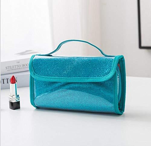 Sac cosmétique Brillant PVC Lady Travel Fashion Organisateur de Sac 37x21x5cm-Beige_37x21x5cm