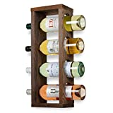 Rustic State Sonoma Wood Wine Rack Wall Mounted Bottle Holder , Holds 4 Bottles