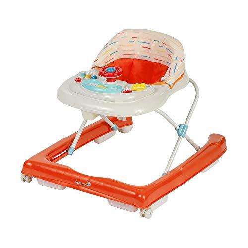 Safety 1st Ludo Girello per Bambini, da 6 Messi fino a 12kg, con Giochi elettronici e Musica, Rosso
