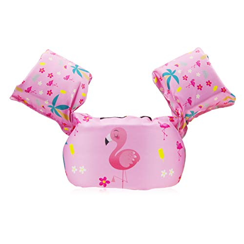 FOCHEA Schwimmflügel Baby, Baby Schwimmring Schwimmhilfe für Kinder und Kleinkinder von 2-6 Jahre, 14-25kg (Rosa)