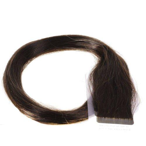 Just Beautiful Hair and Cosmetics Skin Weft Lot de 40 extensions avec bandes adhésives Mèches de 2,5 g et 50 cm