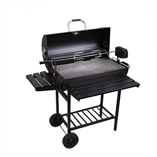 Parrilla de carbón de barbacoa de tres modelos, parrilla de carbón integrada con termómetro y diseño de tabaquismo, parrilla de doble capa de parrilla, parrilla de carbón de alojamiento para picnics a