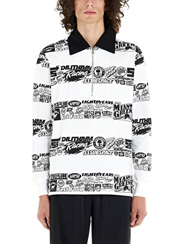 SSS WORLD CORP Luxury Fashion Mens Polo Shirt Winter White